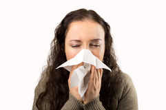 Flu and sneezing royalty free stock image