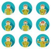 Flu Symptoms Icon Set Stock Image