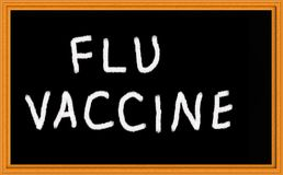 Flu vaccine Royalty Free Stock Photography