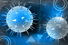 Flu virus. In attractive color background Royalty Free Stock Images