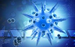 Flu virus Royalty Free Stock Photo
