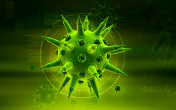 Flu virus Royalty Free Stock Photo