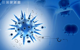 Flu virus Stock Photo