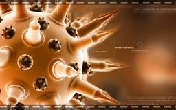 Flu virus. Digital illustration of Flu virus in colour background royalty free stock image