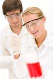 Flu virus experiment -  scientist in laboratory Stock Photos
