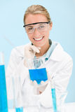 Flu virus experiment -  scientist in laboratory Stock Photo