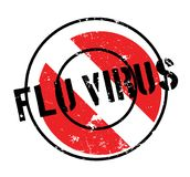 Flu Virus rubber stamp. Grunge design with dust scratches. Effects can be easily removed for a clean, crisp look. Color is easily changed Stock Image
