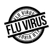 Flu Virus rubber stamp. Grunge design with dust scratches. Effects can be easily removed for a clean, crisp look. Color is easily changed Royalty Free Stock Photo