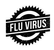 Flu Virus rubber stamp. Grunge design with dust scratches. Effects can be easily removed for a clean, crisp look. Color is easily changed Stock Photos