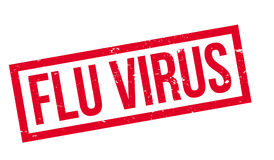Flu Virus rubber stamp Royalty Free Stock Photos