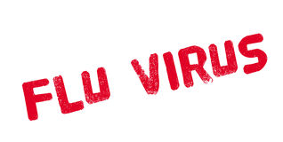 Flu Virus rubber stamp Stock Photography