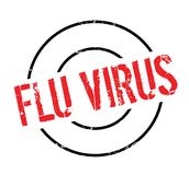 Flu Virus rubber stamp Royalty Free Stock Photo