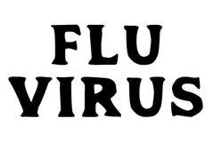 Flu Virus stamp typographic stamp. Flu Virus stamp. Typographic sign, stamp or logo Stock Photography