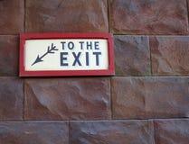 Fluchtwegzeichen Stockbilder