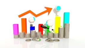 Fluctuaciones de moneda stock de ilustración