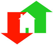 Fluctuating housing market Royalty Free Stock Images