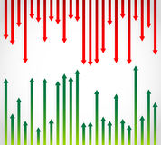 Fluctuation flèches vertes et rouges Illustration Stock