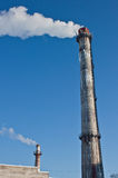 Flue. Of the town factory Royalty Free Stock Image
