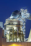 Flue-gas desulfurization plant at night Royalty Free Stock Photos