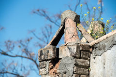 Flue of old destroyed house Royalty Free Stock Image