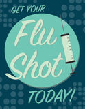 Flue shot poster Stock Images