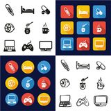 Flue Or Sick All in One Icons Black & White Color Flat Design Freehand Set. This image is a vector illustration and can be scaled to any size without loss of Stock Photo