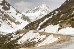 Fluela-Durchlauf - die Schweiz Lizenzfreies Stockfoto