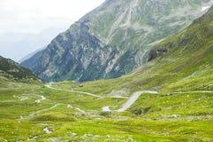 Fluela-Durchlauf, Suisse-Alpen stockbilder
