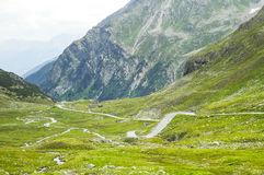 Fluela-passage, Alpes de Suisse images stock