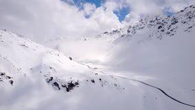 Fluelapass в Швейцарии в снеге Стоковые Фотографии RF
