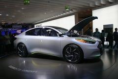 Fluence Renault elektrisches Auto des Konzeptes Lizenzfreies Stockfoto