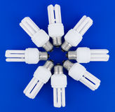 Fluerescent lamps Stock Images