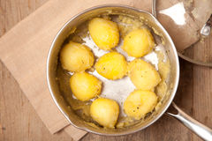 Fluf up patatoes Stock Photo
