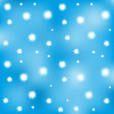 Fluff in the blue sky - vector pattern Stock Photos