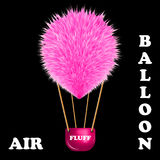 Fluff hot air balloon Royalty Free Stock Photo