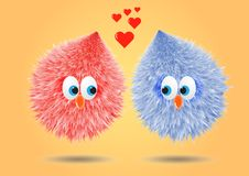 Fluffi in love stock image