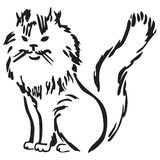 fluffig katt stock illustrationer