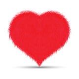 Fluffig/päls- hjärta arkivbild