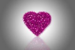 Fluffig rosa hjärta Fotografering för Bildbyråer