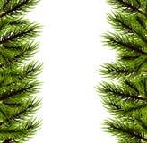 Fluffig trädmall för jul Arkivbilder