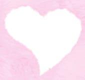 fluffiga hjärtavalentiner Arkivfoton