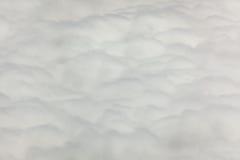 Fluffiga och mjuka moln som ses från över Royaltyfri Fotografi