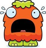 Fluffigt monster för förskräckt tecknad film Royaltyfria Bilder
