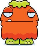Fluffigt monster för uttråkad tecknad film Arkivfoton