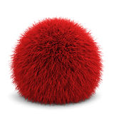 Fluffy ball. 3d illustration isolated on white background Stock Photo