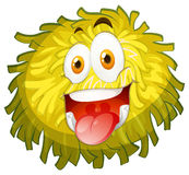 Fluffy ball with happy face Royalty Free Stock Photography