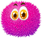 Fluffy ball with happy face Royalty Free Stock Photo