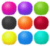 Fluffy ball in many colors Royalty Free Stock Photography