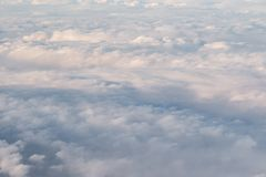 Cloud Blanket. A fluffy blanket of clouds as seen from above Royalty Free Stock Photography