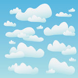 Fluffy Blue Clouds Stock Photography